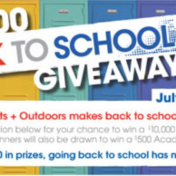 Academy Sports and Outdoors $50,000 Back to School Sweepstakes!