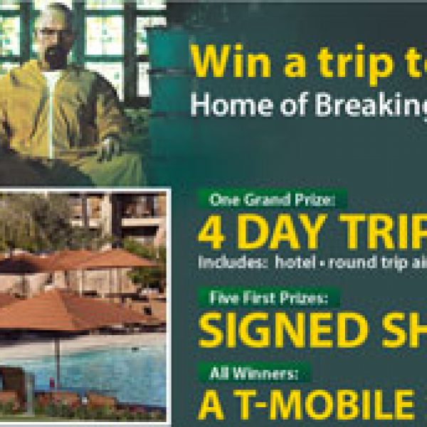 Breaking Bad Season 5 Flyaway Sweepstakes!