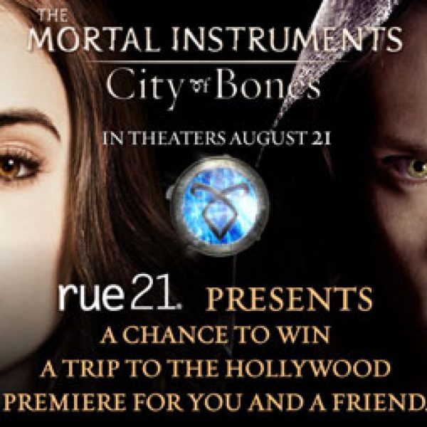 Rue 21 City of Bones Hollywood Premiere Sweepstakes!