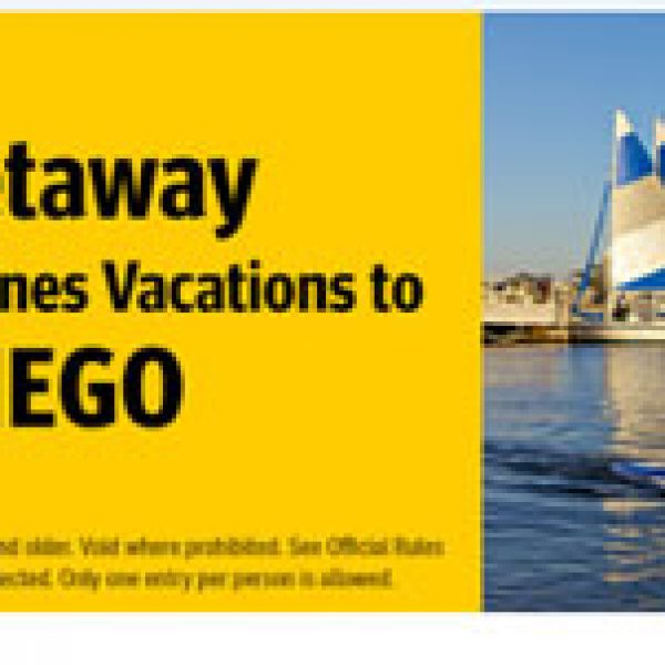 Southwest Getaway to San Diego Sweepstakes!