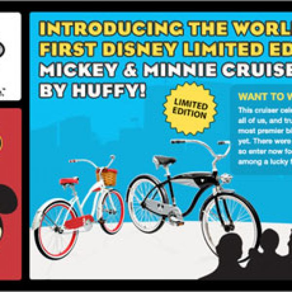 Win a Mickey Mouse-themed Cruiser Bicycle!