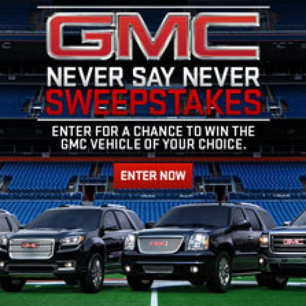 Win a Buick or GMC vehicle Worth up to $65,000!