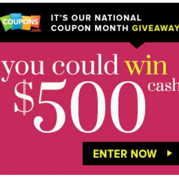 Win a $500 Prize Daily from Coupons.com!