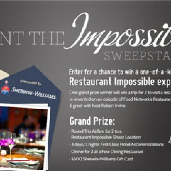 Win a one-of-a-kind Restaurant Impossible Experience!