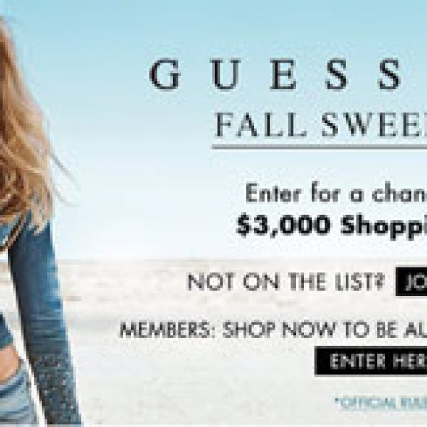 Win a $3,000 GUESS Shopping Spree!
