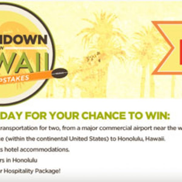 Win a Trip to Hawaii to see the Pro Bowl!