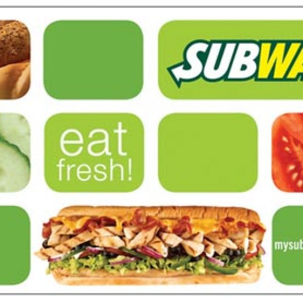 Instantly Win a Subway Gift Card!