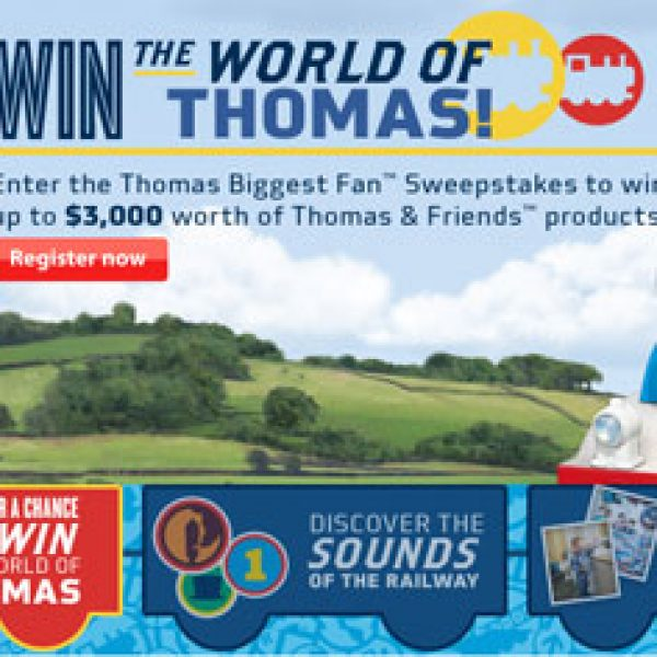 Win $2,500 Worth of Thomas the Train toys and Other Products from Walmart!