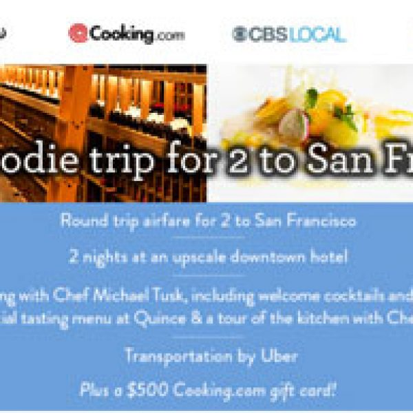 Win a 2-night trip for two to San Francisco!