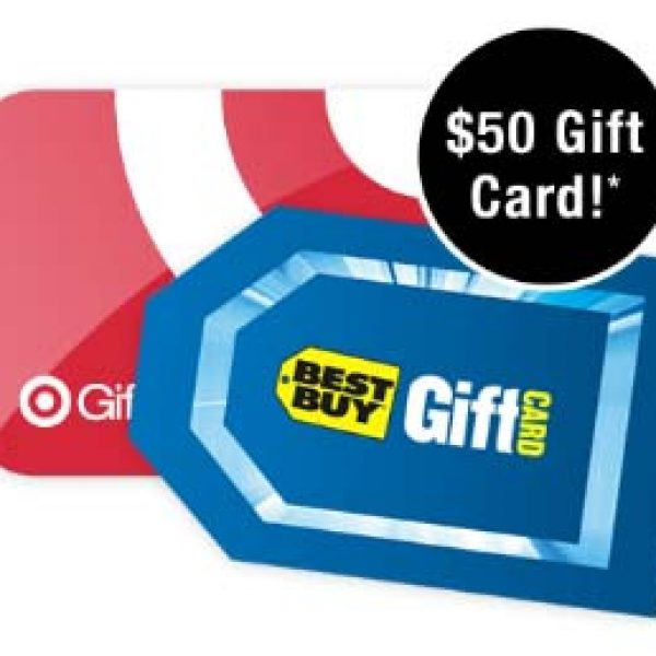 Win a $50 Target or Best Buy Gift Card!
