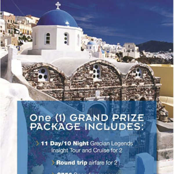 Win a Tour of Greece including a Cruise worth $10,000!