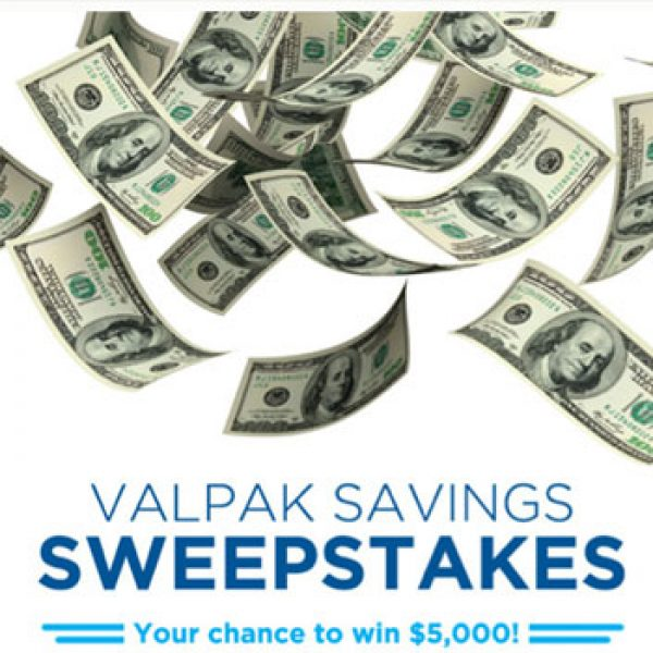 Win a $5,000 check from Valpak!