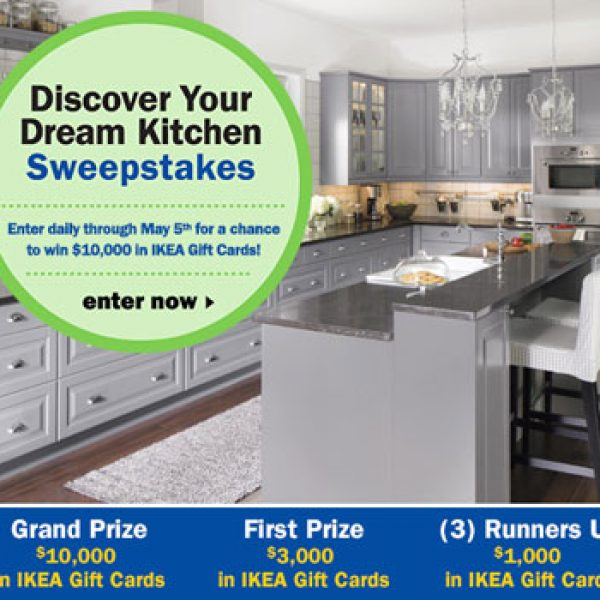Win $10,000 in IKEA gift cards!