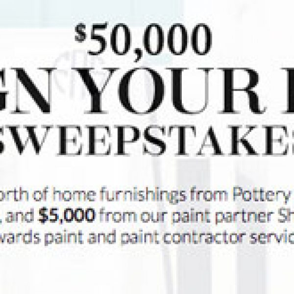 Win Furnishings and Paint worth $50,000 from Pottery Barn!