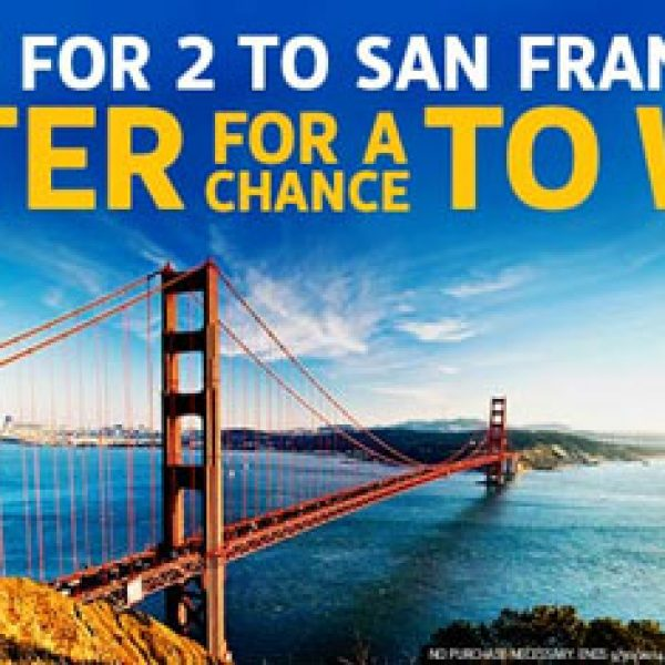 Win a Trip for 2 to San Francisco!