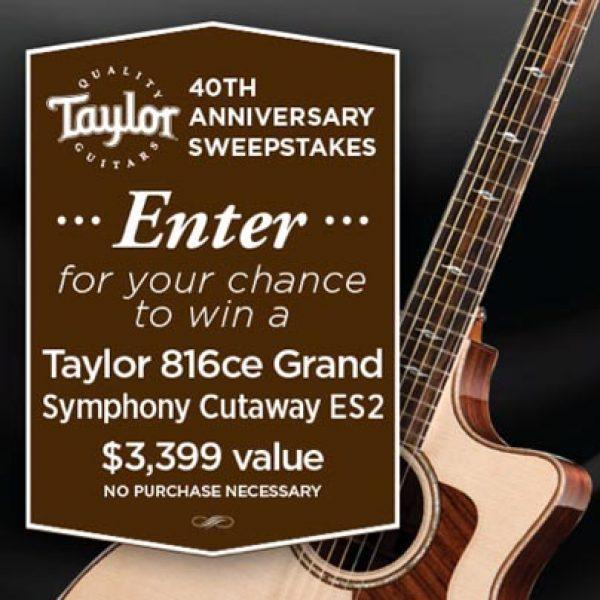 Win a Taylor 816ce Grand Guitar!