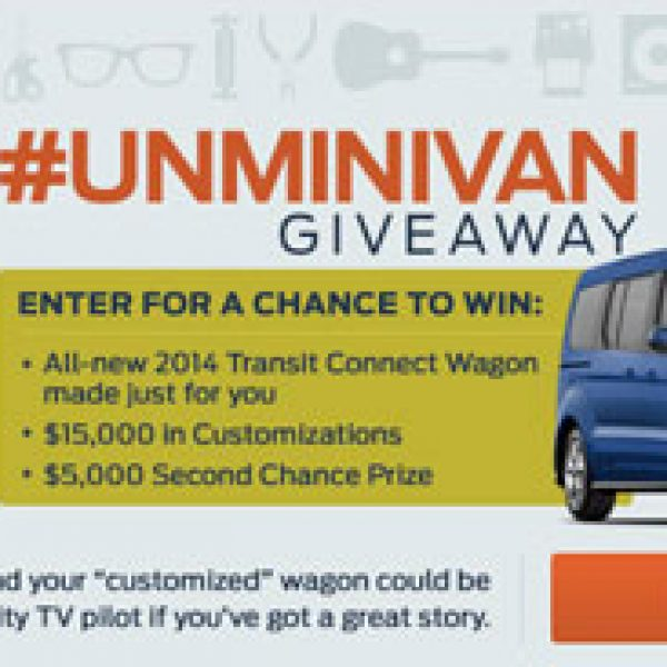 Win a 2014 Ford Transit Connect Titanium Wagon and $15,000!
