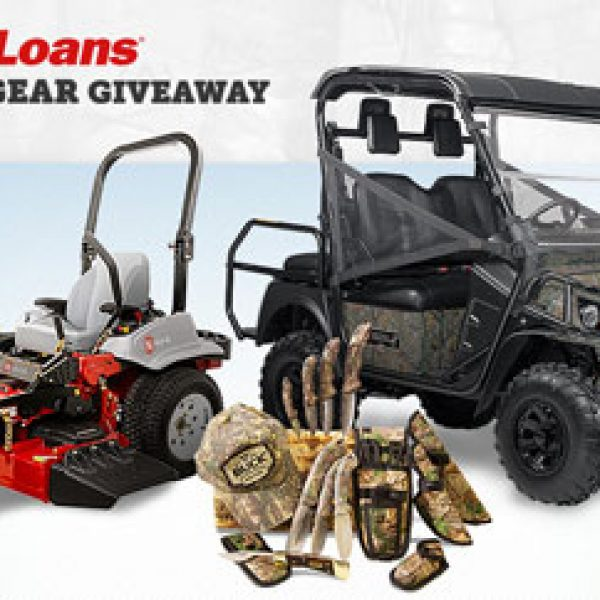 Win a $42,000 grand prize including Cash, a Mower, a 4x4 vehicle and More