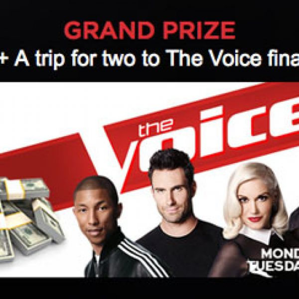 Win $10,000 plus a trip to see the Finale of The Voice