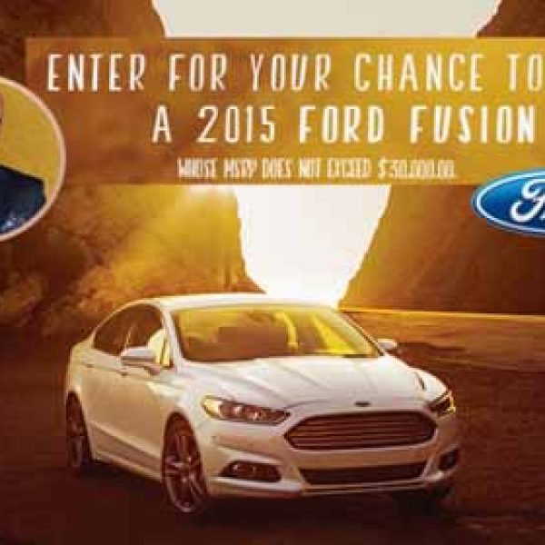 $39K Ford Fusion Giveaway