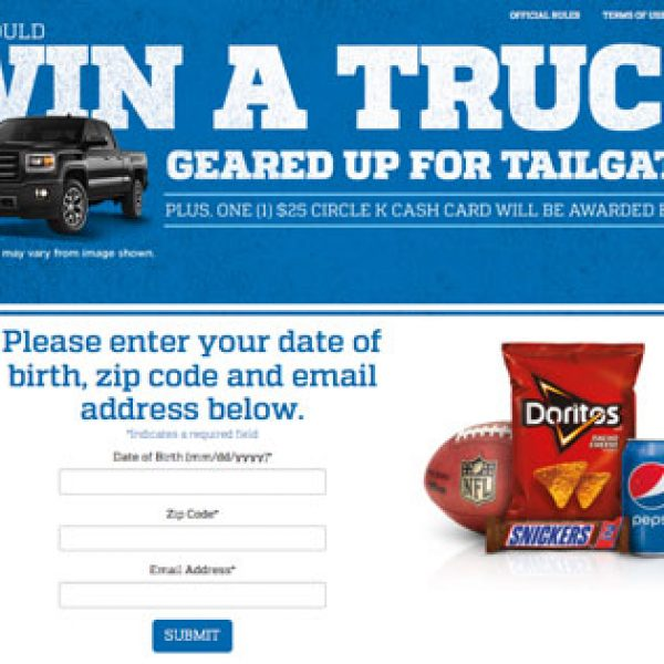 Win a GMC Sierra Truck, a Grill, and Tailgate Goodies