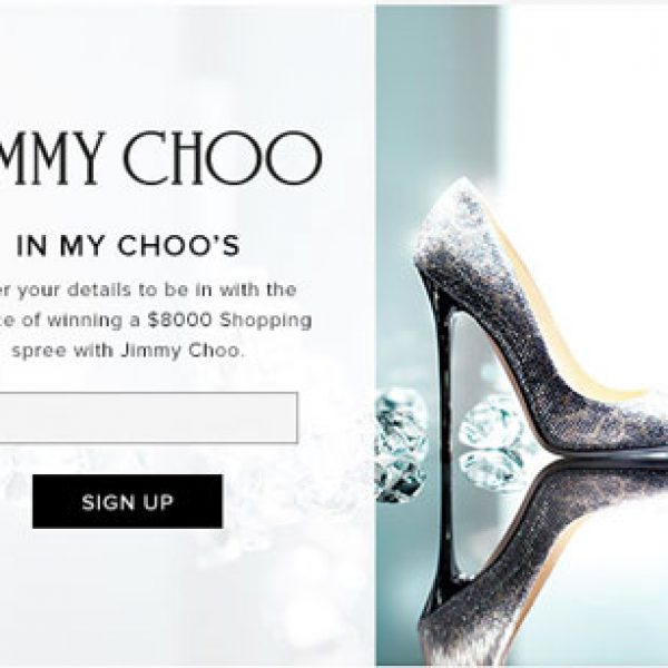 Win an $8,000 Jimmy Choo Designer Shoe Shopping Spree