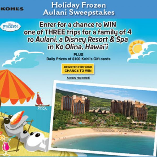 Win a Trip to Honolulu or a $100 Kohl's Gift Card