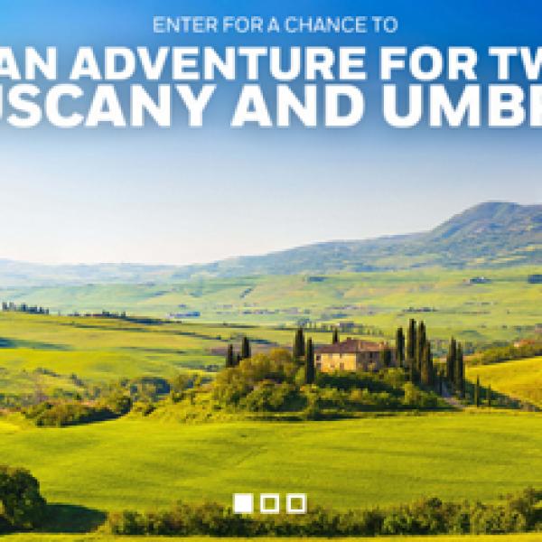 $10,000 Tuscany & Umbria Sweepstakes!