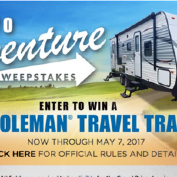 Win a 2017 Coleman travel Trailer worth $26,260!