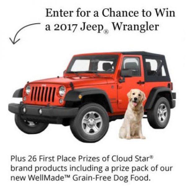 Win a 2017 Jeep Wrangler and Dog Food & Treats!