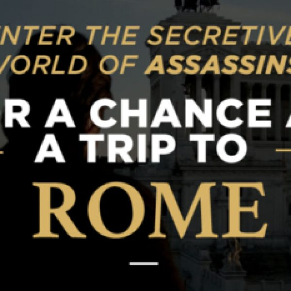 Win a a trip for two to Rome, Italy for six days and $1,000!