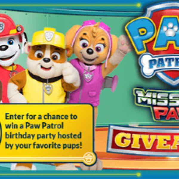 Paw Patrol Giveaway!