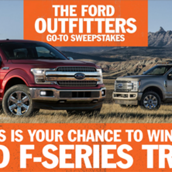 Ford Outfitters $50,000 Sweepstakes!