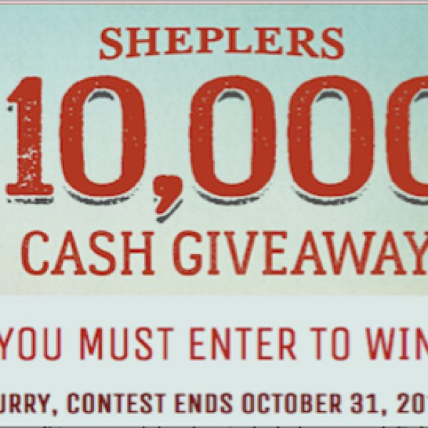 Win $10,000 cash to spend as you please!