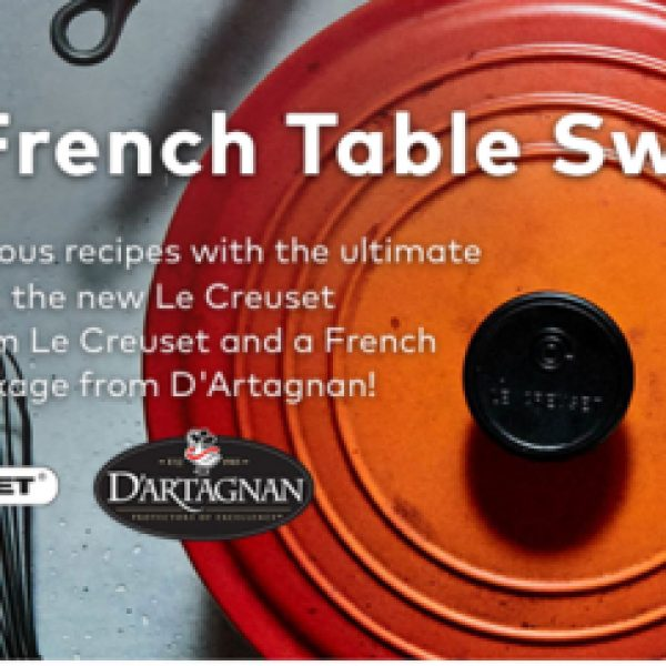 Win the ultimate Le Creuset cookware set, cookbooks and more!