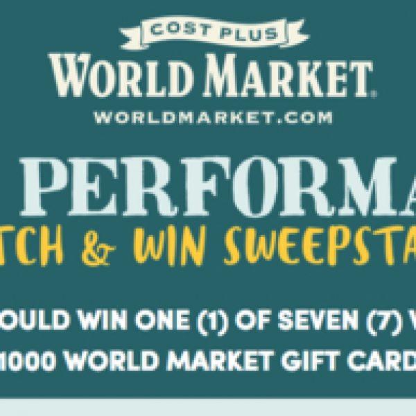 Win a $1,000 World Market gift card!