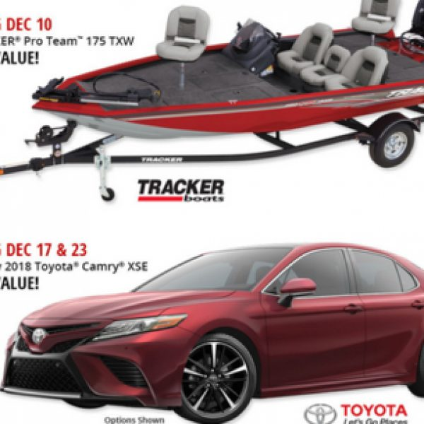 Win a Toyota Camry XSE worth $36,000!