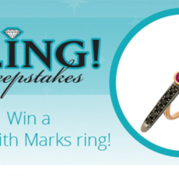 Win a Meredith Marks sterling silver ring with a ruby 14k rose gold and black diamonds!