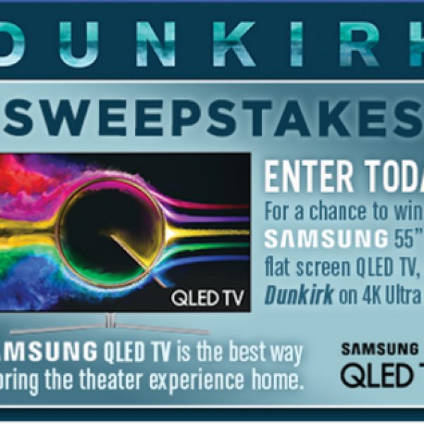 Win a 55 inch 4K TV form Samsung and a copy of Dunkirk!