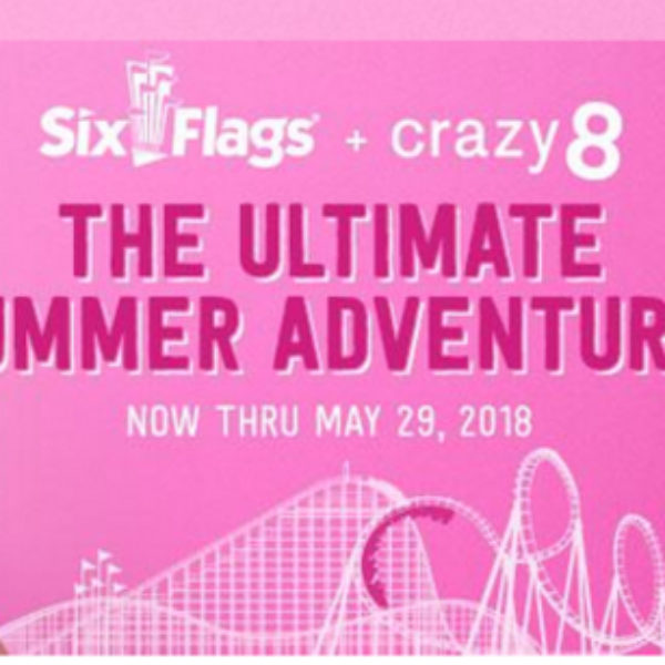 Win $2,000 and four general admission tickets to Six Flags!