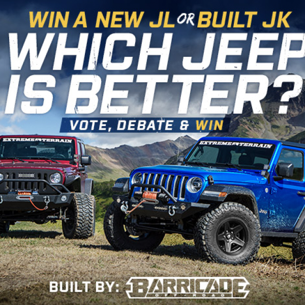 Extreme Terrain: Win a Jeep Wrangler JK or a Jeep Wrangler JL