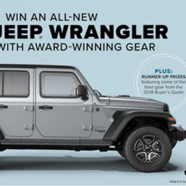 Summer Gear Giveaway: Win a 2018 Jeep Wrangler!