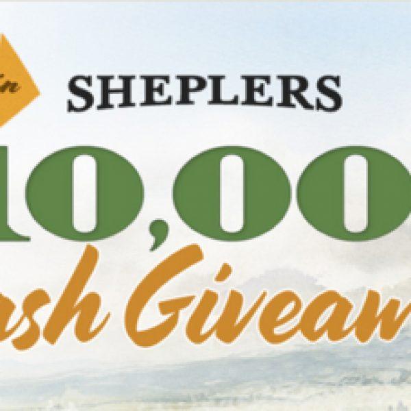 Sheplers $10,000 Cash Giveaway: Win $10,000