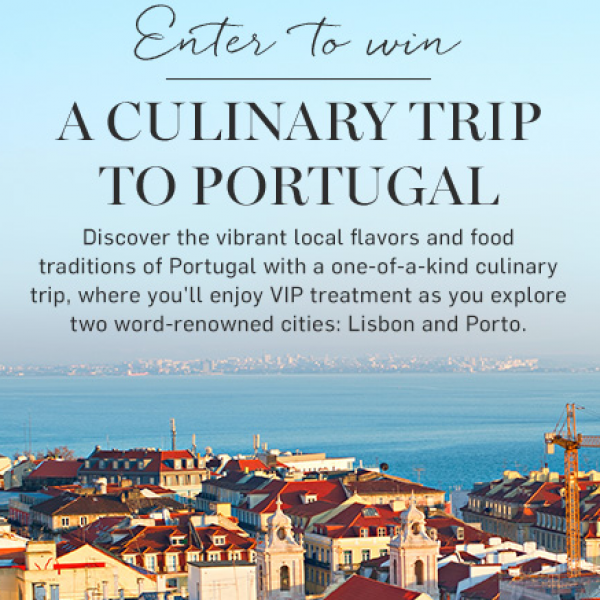 Williams Sonoma: Win a Culinary Trip to Portugal