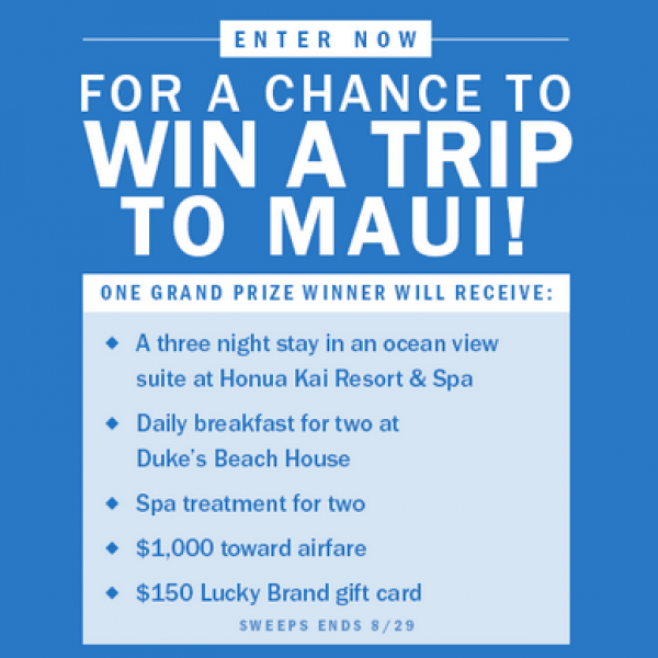 Page Six: Win a trip for two to Maui, Hawaii