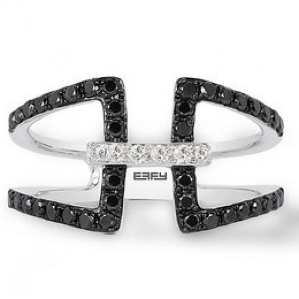 Effy Jewelry: Win a 14K White Gold Black and White Diamond Ring Set and a Cruise!