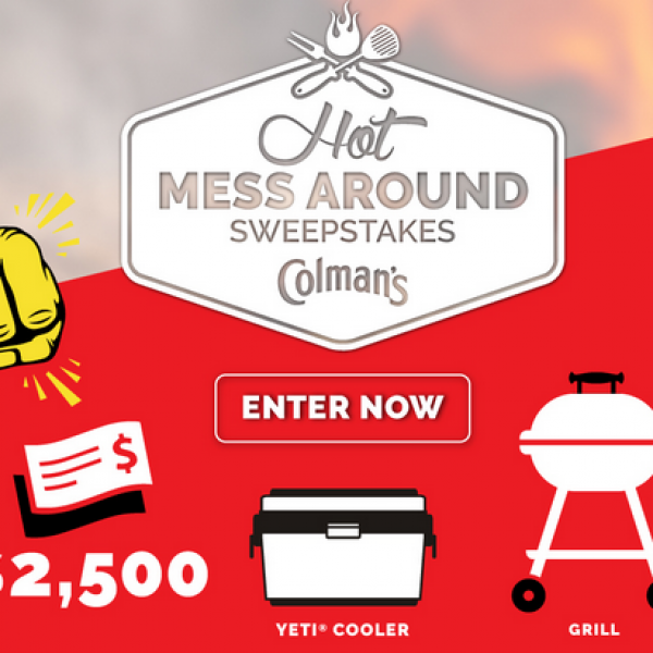 Colman's Mustard: Win $2,500, a charcoal or gas grill, a Yeti cooler and more