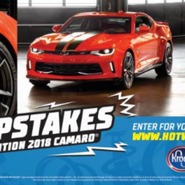 Hot Wheels: Win a 2018 Chevrolet Camaro 2LT Car
