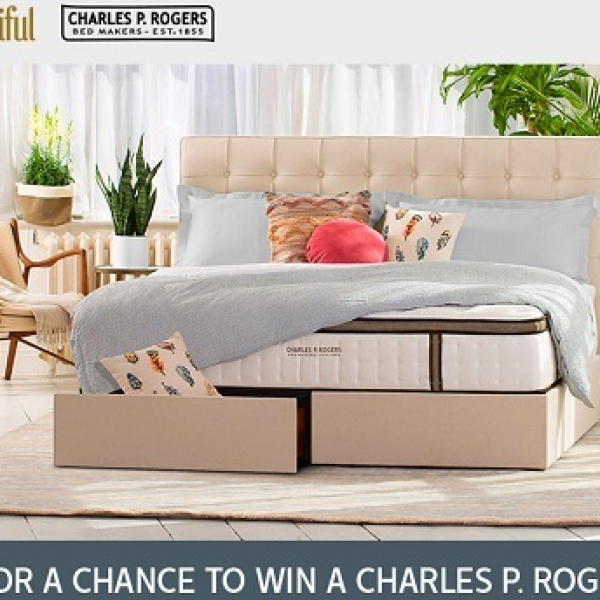 House Beautiful: Win a king-size Pavilion linen upholstered storage bed with an Estate 5000 mattress