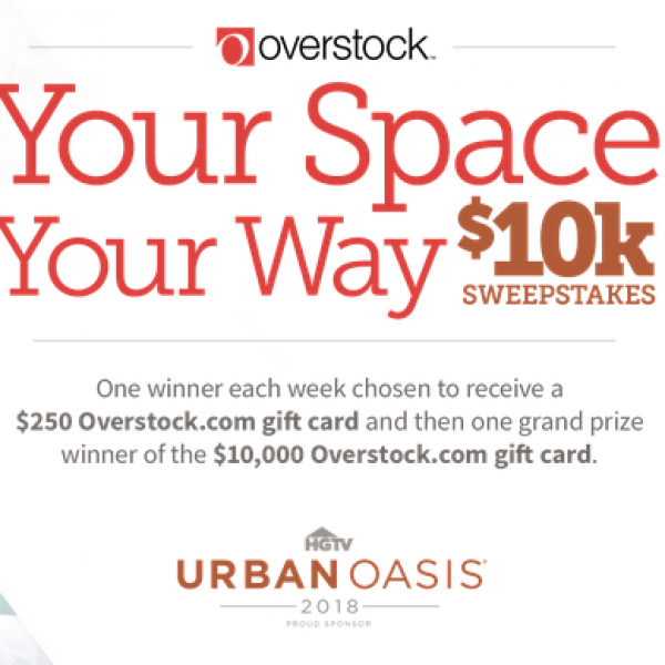 Overstock: Win a $10,000 Overstock.com gift card